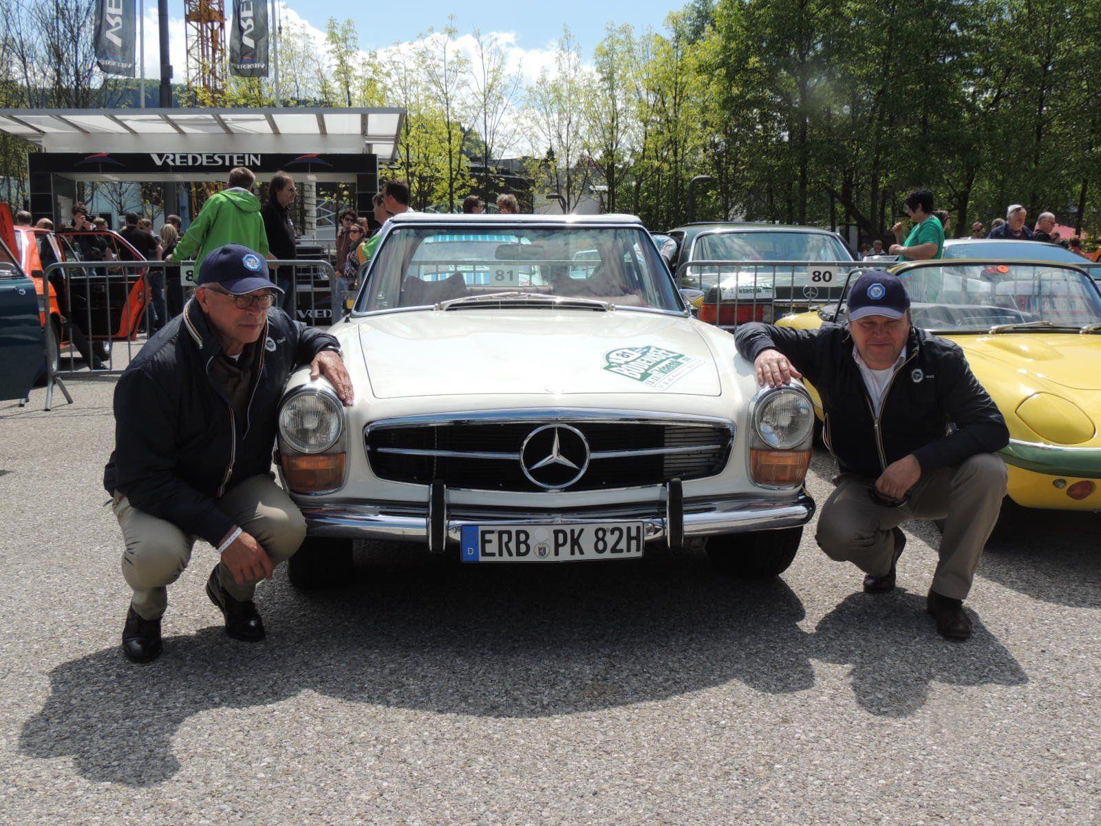 Liebhaber alter Autos präsentierten sich auf der  Bodensee-Klassik