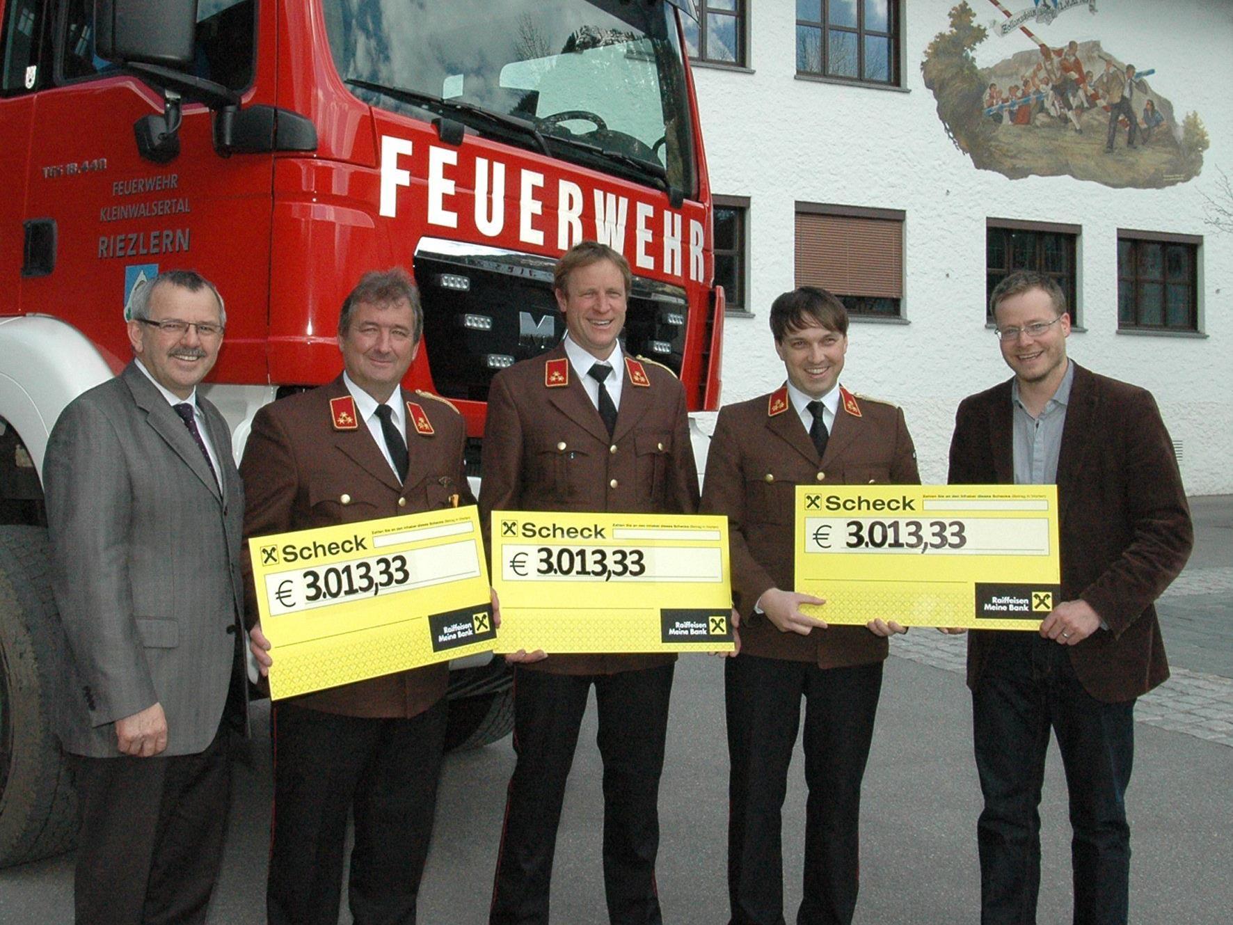 Bgm. Haid, Kdten. Schlegel, Moosbrugger, Duffner, Holding-Vorstand Müller