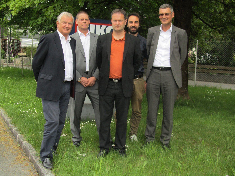 Die neue GIKO-Geschäftsführung: v.l. Elmar Geiger, Michael Seeber, Jochen Schörgenhofer, Alexander Abbrederis und Harald Dür.