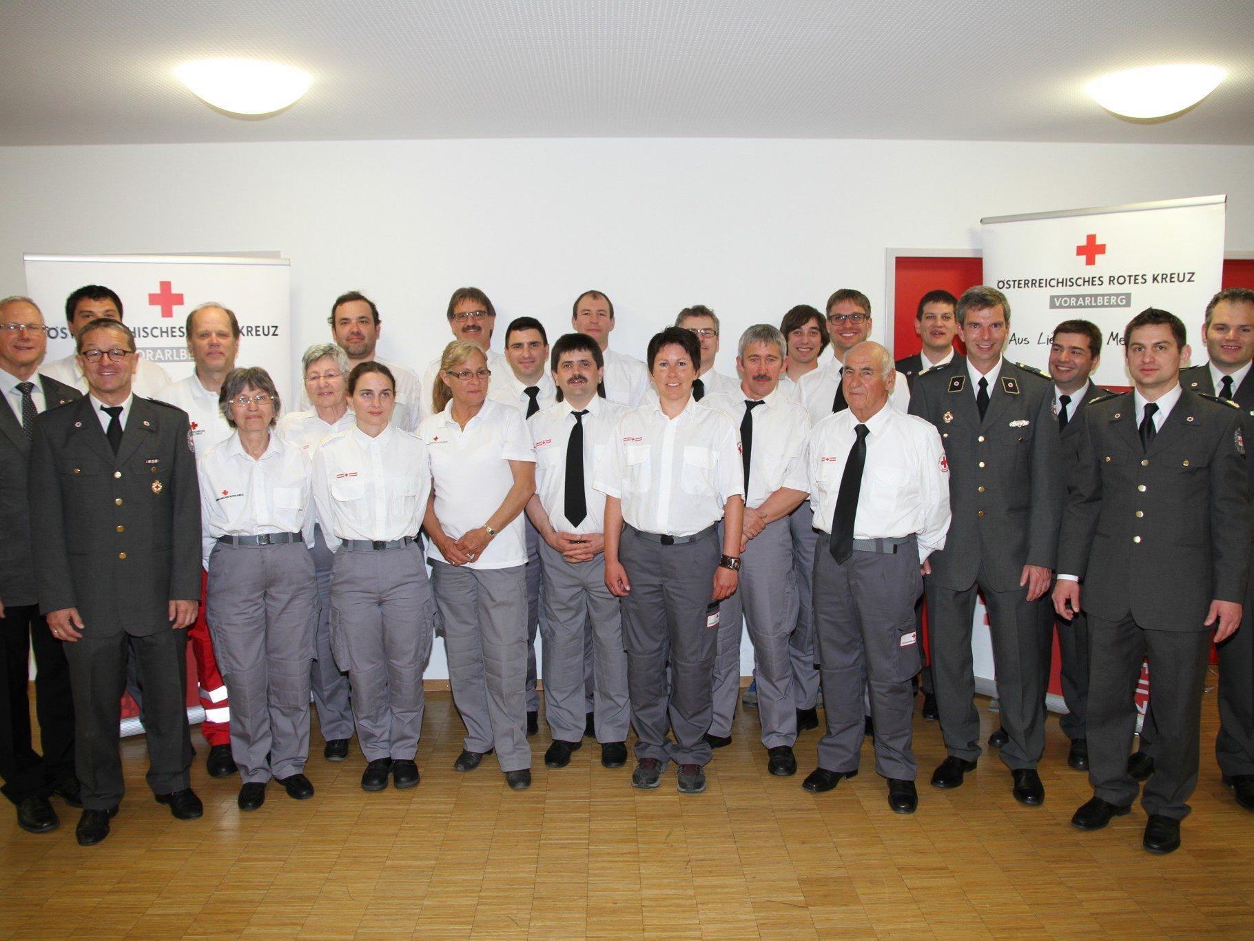 alle Geerhten Mitarbeiter der Rotkreuz-Abteilung Bludenz – St. Gallenkirch - Sonntag.