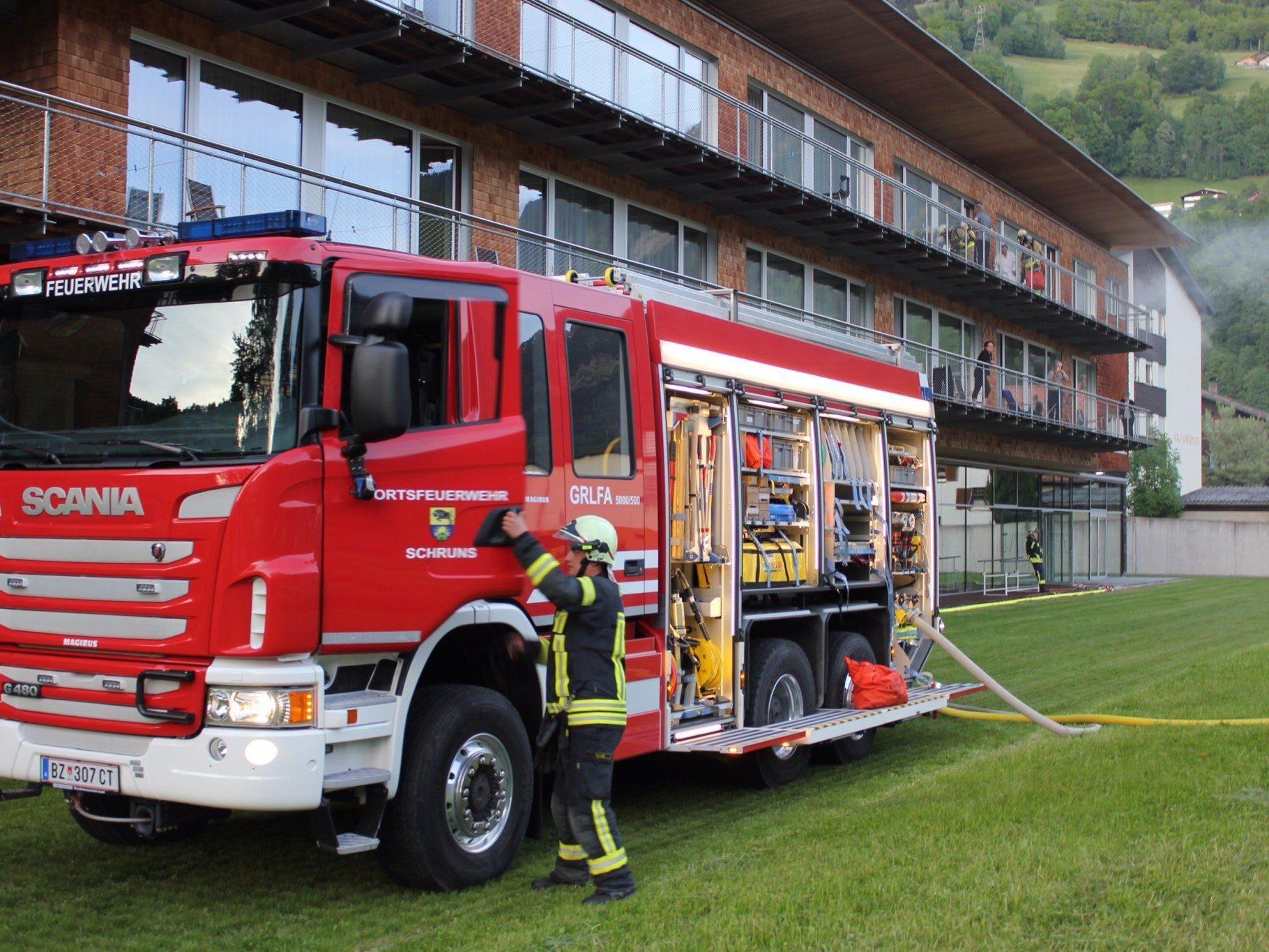 Am Dienstagabend, den 20. Mai 2014, wurde in der Rehabilitationsklinik in Schruns eine Brandschutzübung durchgeführt.