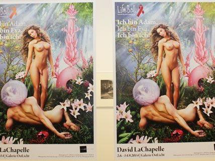 Das Aufreger-Sujet-Plakat für den Life Ball