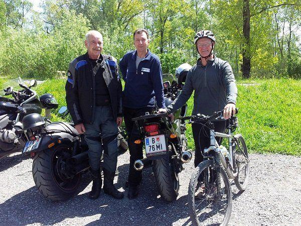 PVÖ-Biker auf erster Ausfahrt