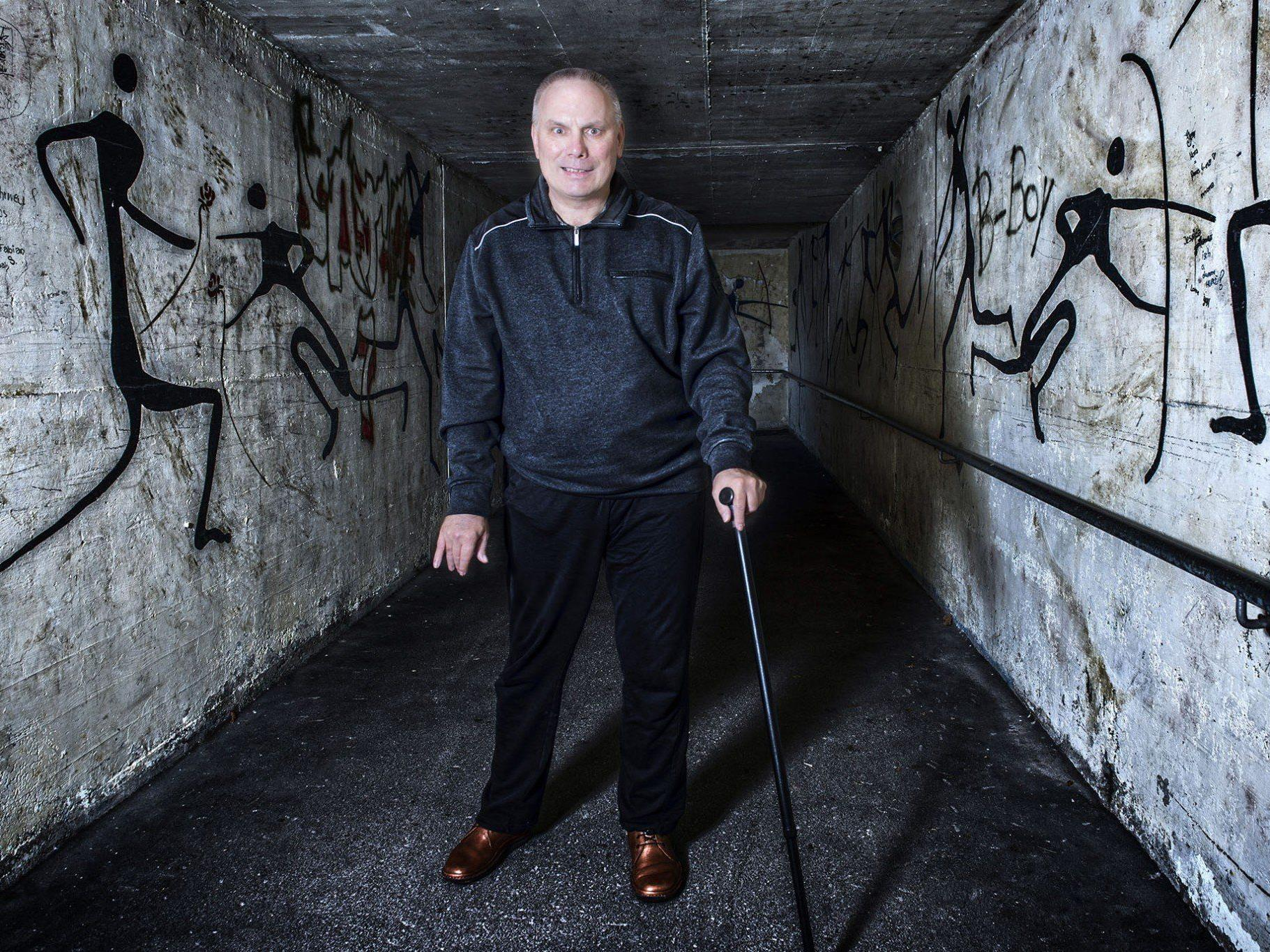 Gehirnschlag-Patient Kurt Gerszi aus Tschagguns ist Obmann des Montafoner Selbsthilfevereins.