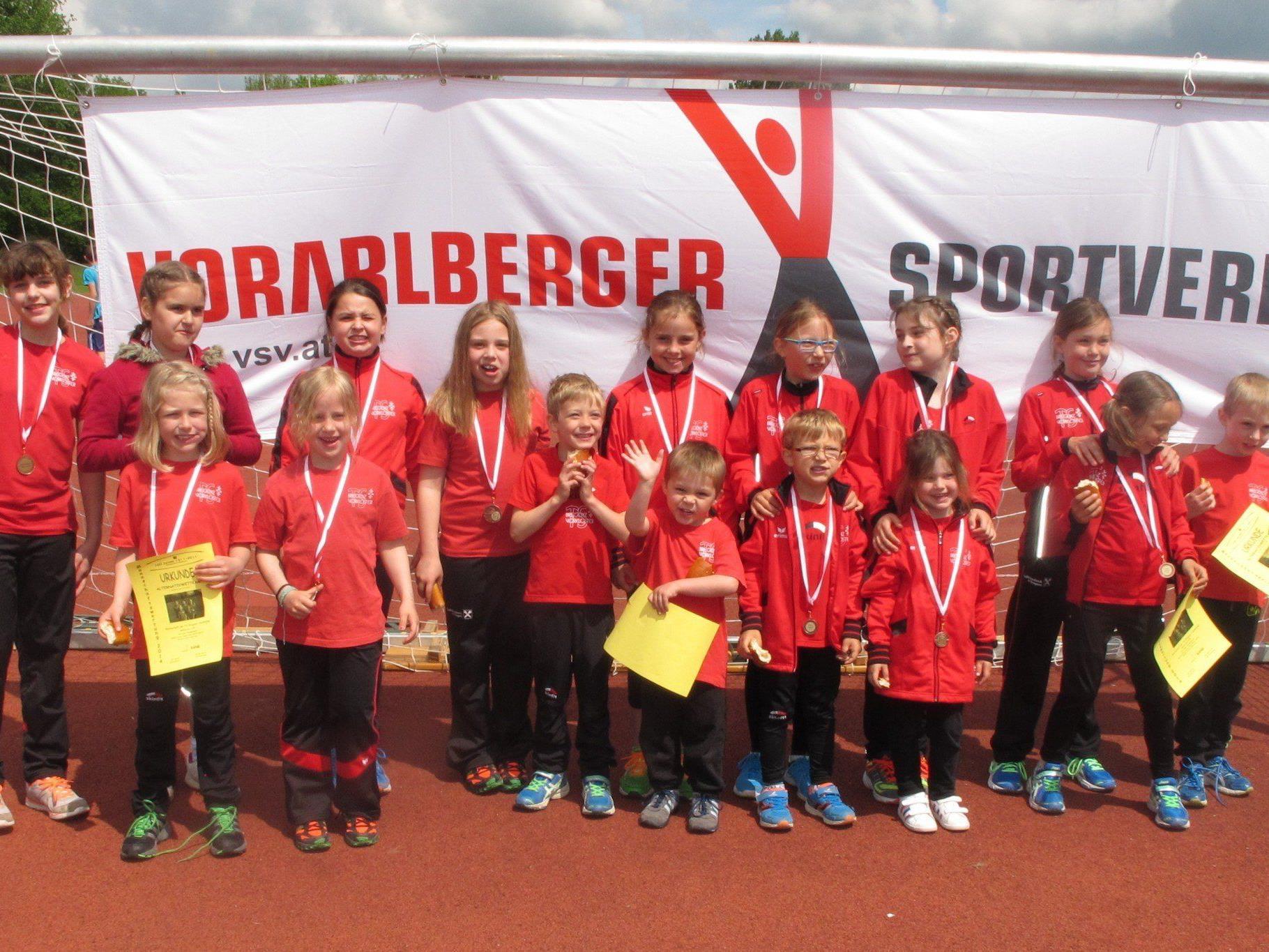 Die erfolgreichen Leichtathleten der TS Bregenz-Vorkloster.