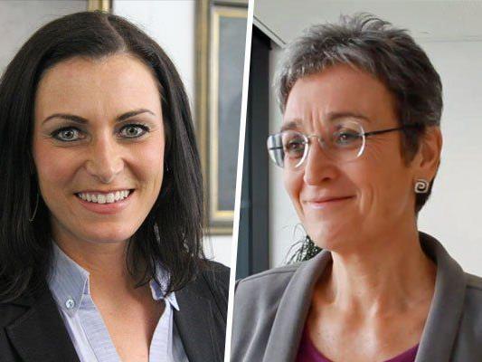 Elisabeth Köstinger (ÖVP) und Ulrike Lunacek (Grüne) sind mitten im EU-Wahlkampf.
