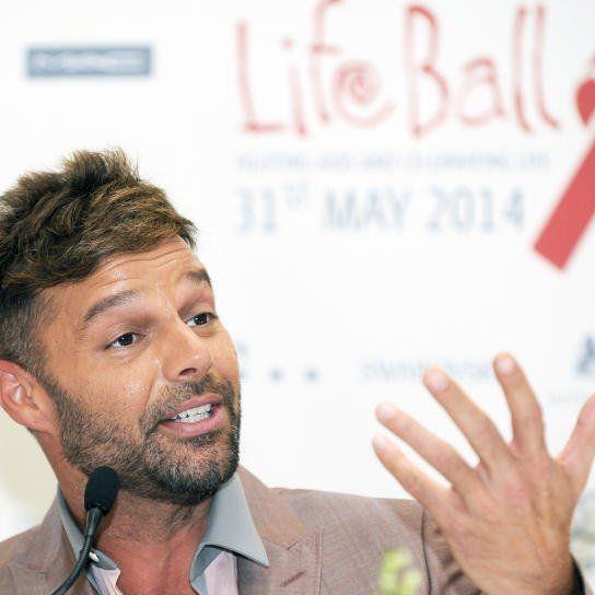 Ricky Martin bei der Pressekonferenz in Wien.