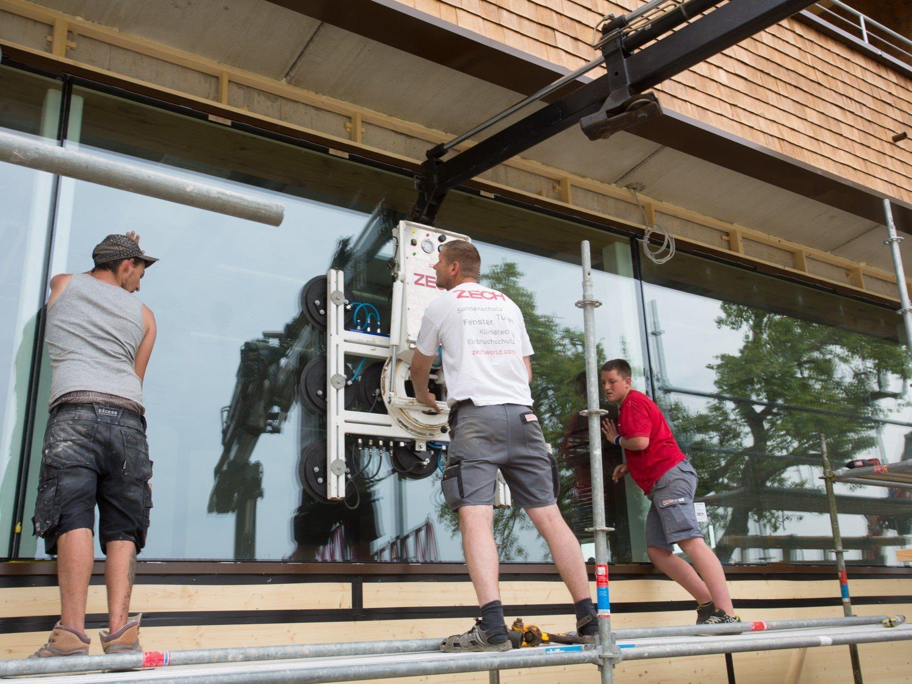 Bei den Bauarbeiten setzte Familie Fritsch auf regionale Wertschöpfung: Materialien und ausführende Unternehmen stammen aus der Region.
