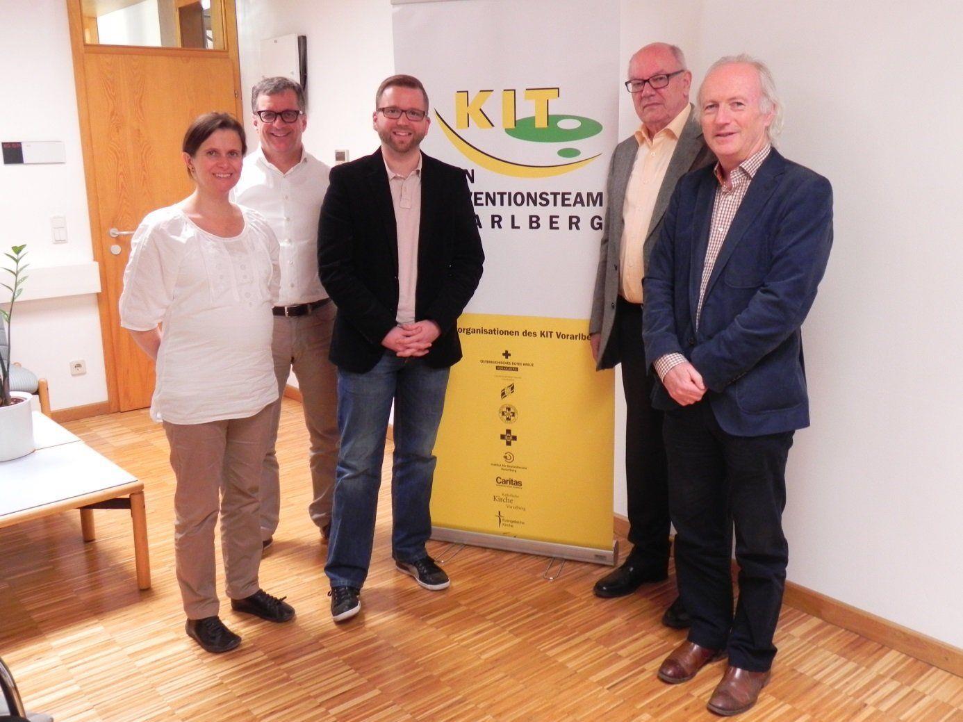 v.li.: Isabel Meunier, Günther Watzenegger, Thomas Stubler, Walter Baur, Stefan Allgäuer.