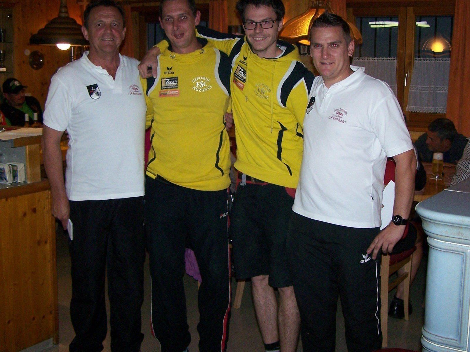 (V.l.n.r.) Josef Gruber, Ruppert Riezler, Martin Paxer, Vinzenz Zech.