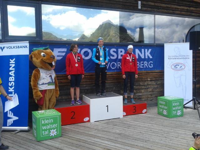 Die Dornbirnerin Sabine Reiner gewann erwartungsgemäß den Berglauf Landestitel.
