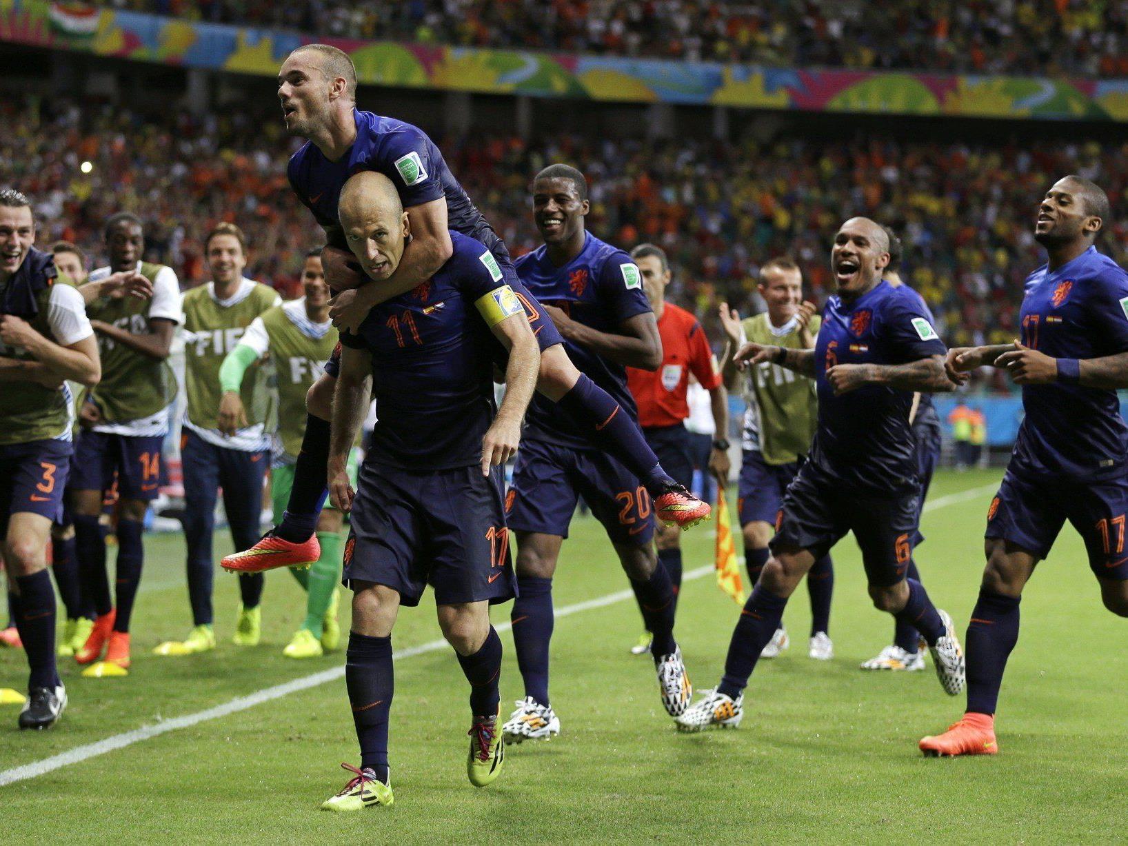 Die Holländer spielten sich in Halbzeit zwei in einen wahren Spielrausch.