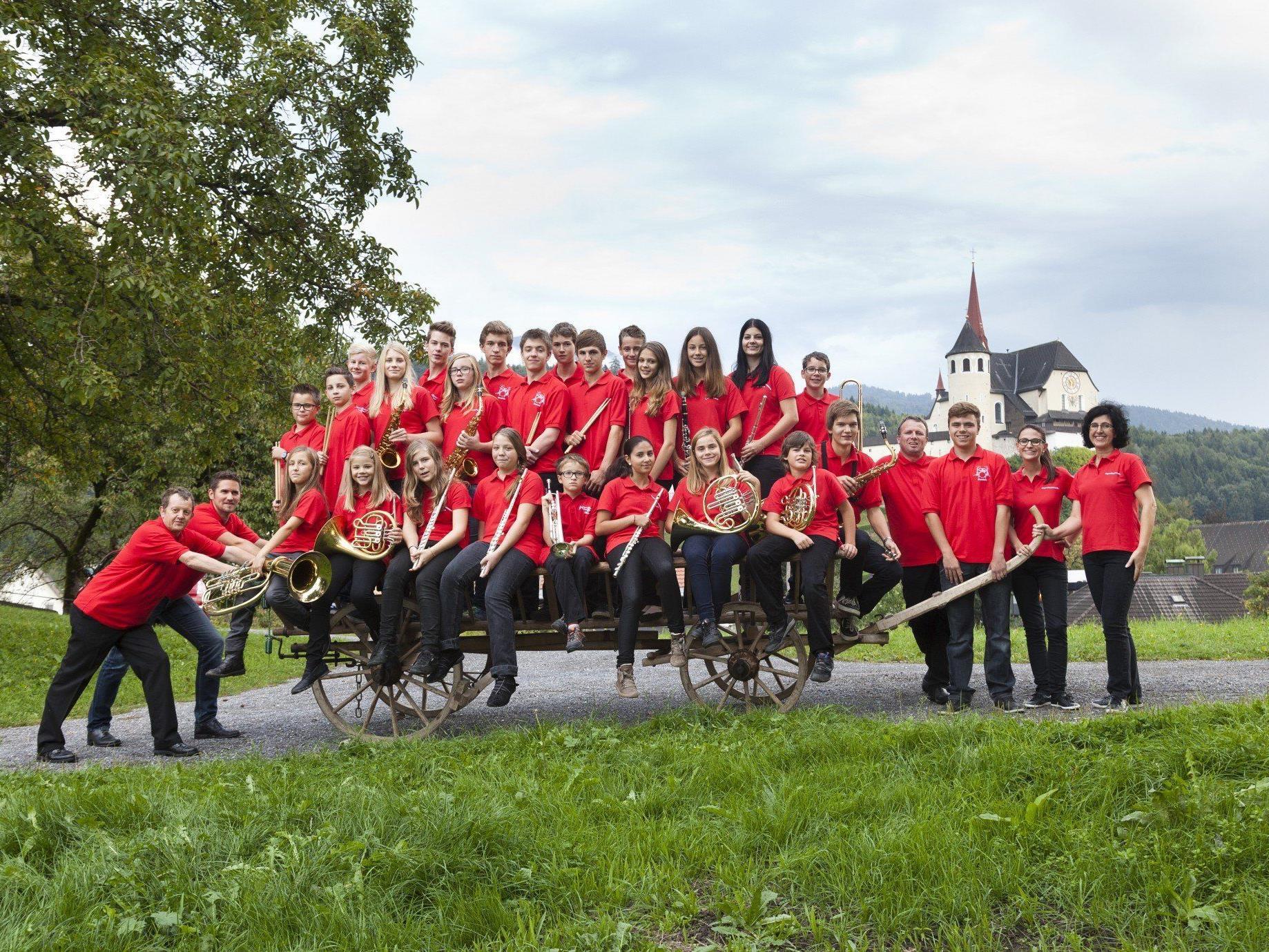 Auch die Jugendkapelle feiert beim Bezirksmusikfest ihr 50 Jahr Jubiläum.