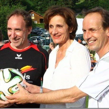 FPÖ-Chef Dieter Egger, Sportlandesrätin Bernadette Mennel und Grünen-Politiker Johannes Rauch zeigten sich sportlich.