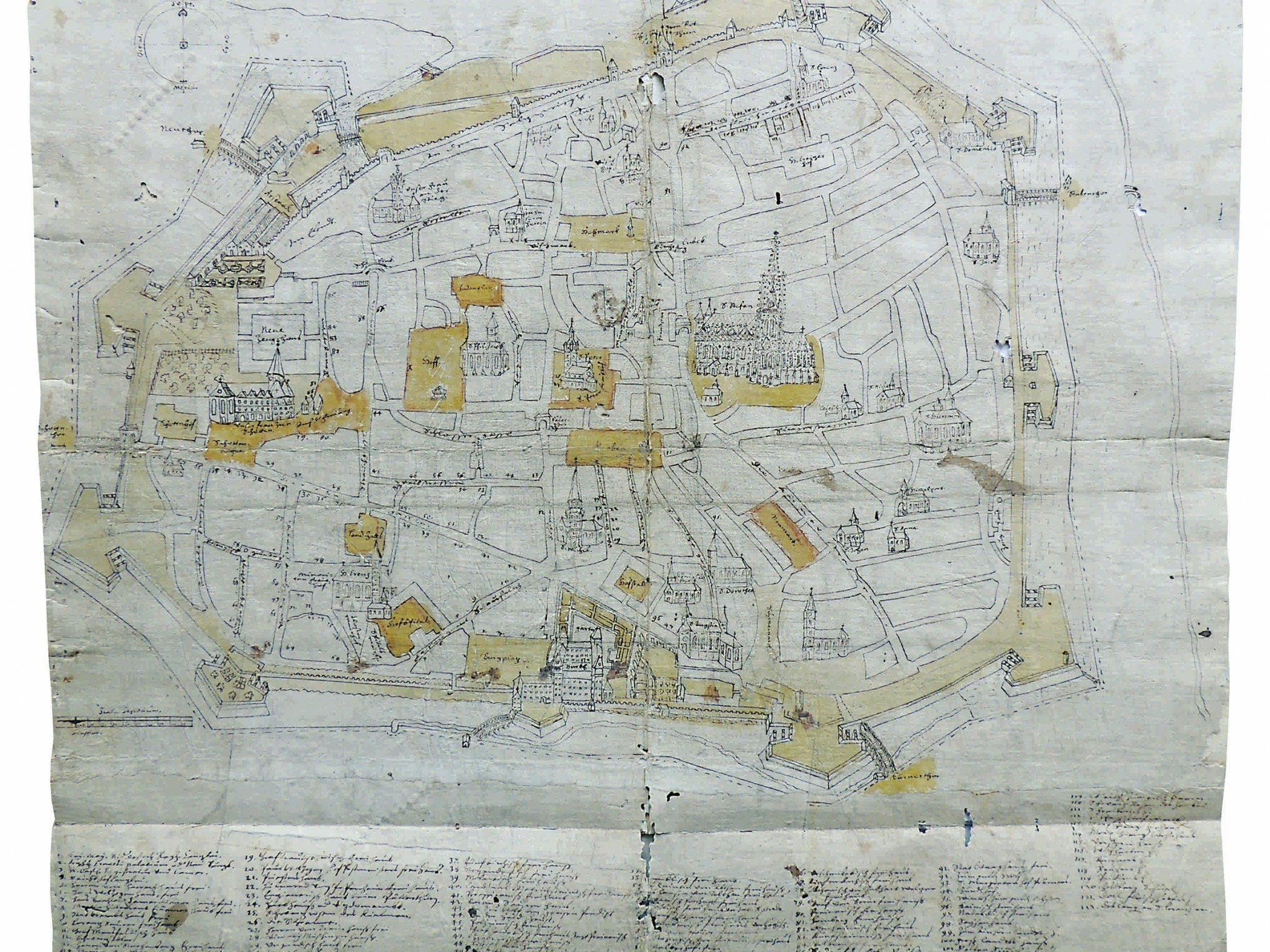 Nun wurde ein Stadtplan Wiens aus dem jahre 1622 entdeckt,