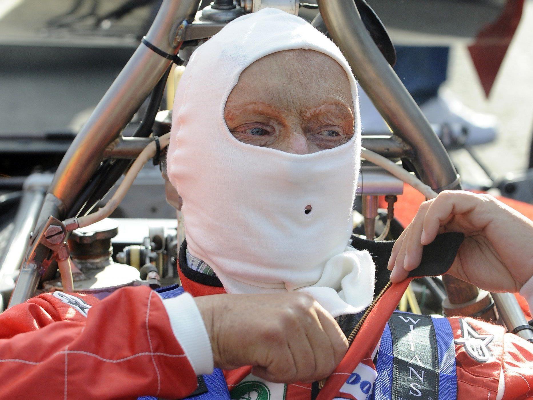 Niki Lauda am Samstag, 21. Juni 2014, während eines Fototermins anl. des Legendenrennens am Red Bull Ring in Spielberg.