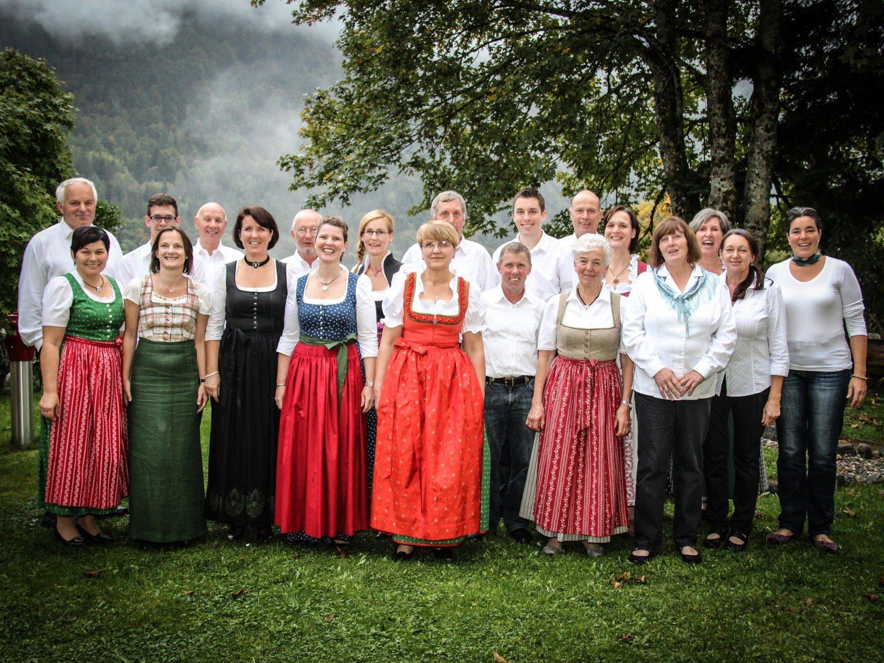 Die Chorszene aus dem Bezirk Bludenz ist beim Wertungssingen gut vertreten, im Bild die Chorgemeinschaft Cantemus.