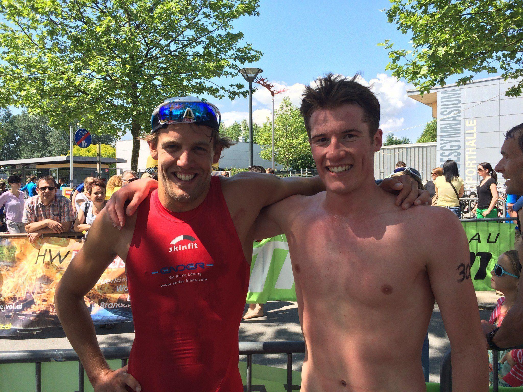 Dominik Berger und Martin Bader lieferten sich einen erbitterten Kampf.