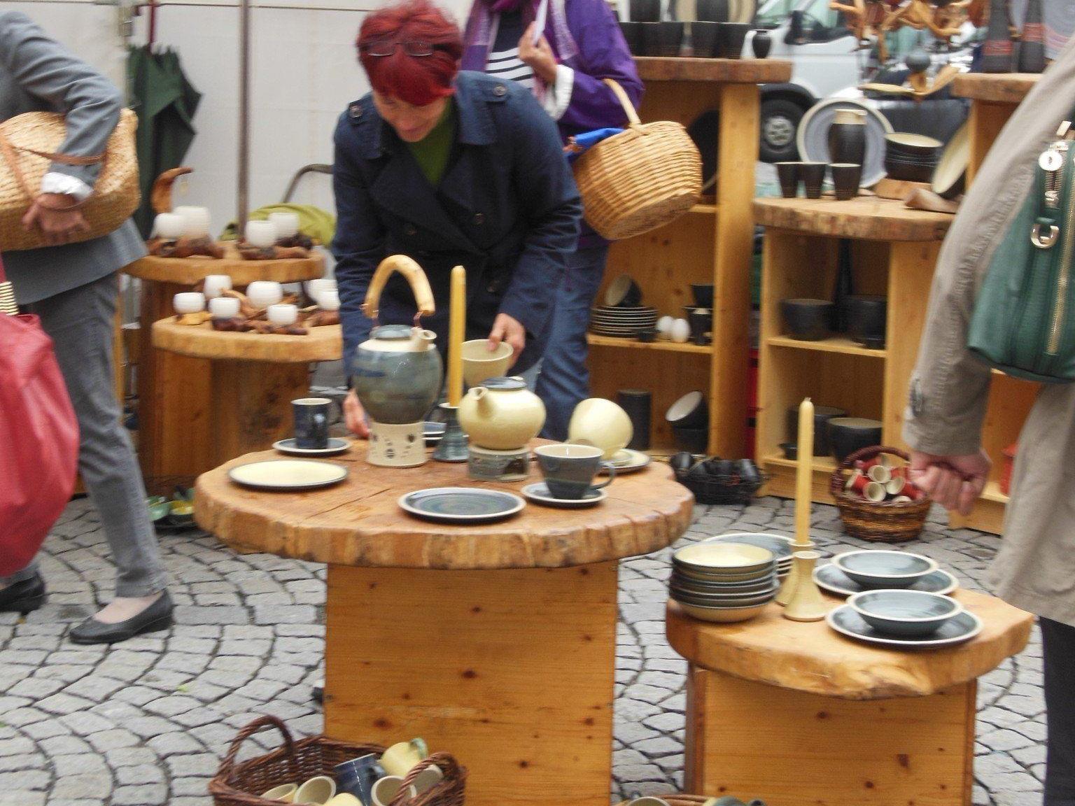 Töpfermarkt in Feldkirch.