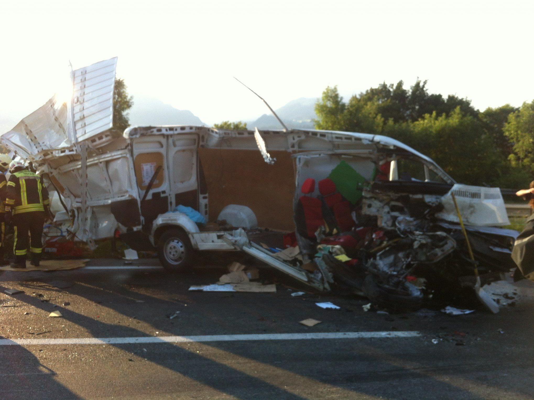 Schwerer Unfall auf der A14.