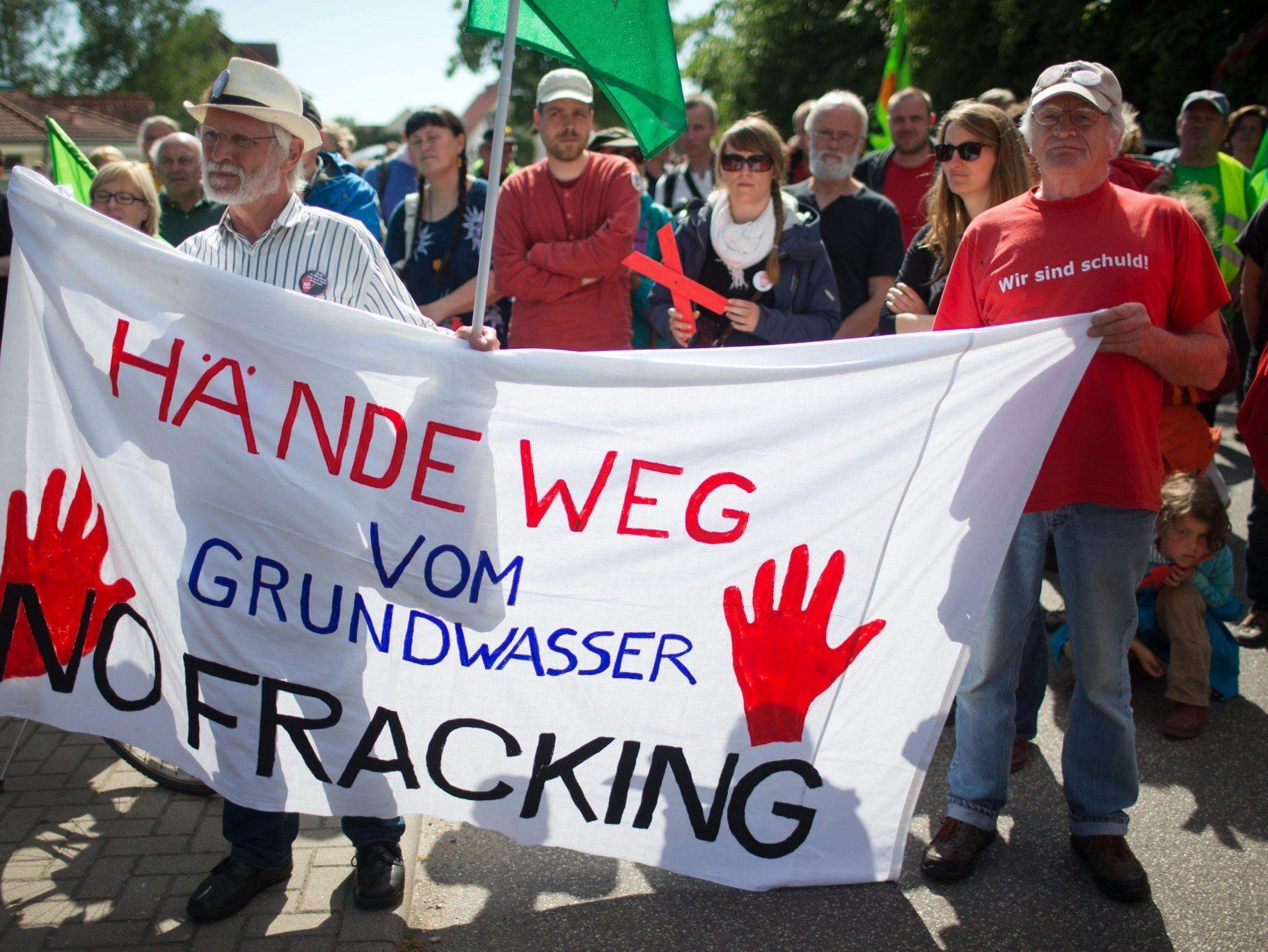 In Deutschland werden die Proteste der Fracking-Gegner wie hier in Mecklenburg-Vorpommern immer lauter.