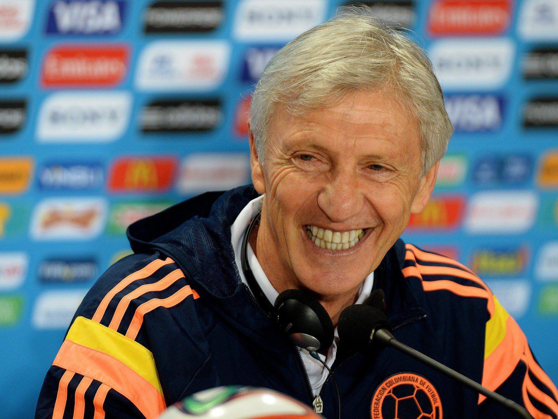Kolumbiens Teamchef Jose Pekerman will für Verwirrung beim Gegner sorgen.
