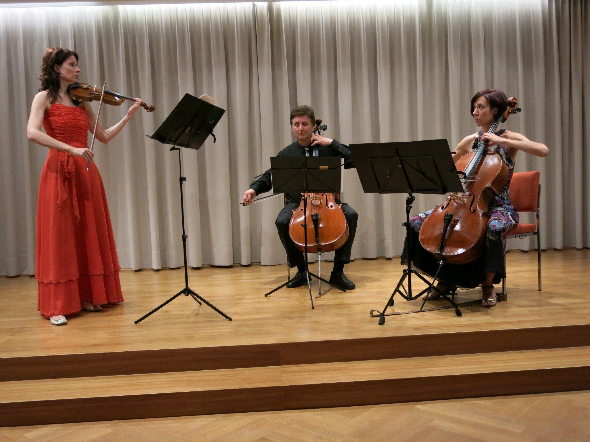 """""""VielSaitiges"""" Trio mit den Schwestern Rossel und Wolfgang Mayer in Gaschurn."""