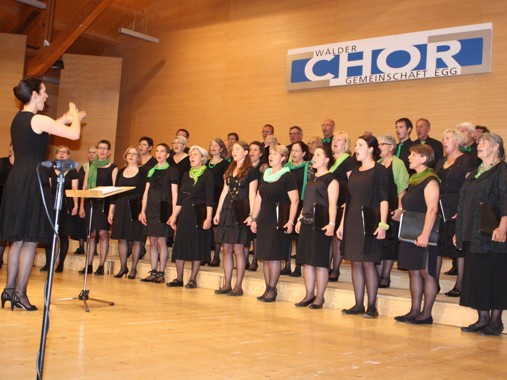 Die Wälder Chorgemeinschaft bot beim Pfingstkonzert Chorgesang vom Feinsten.