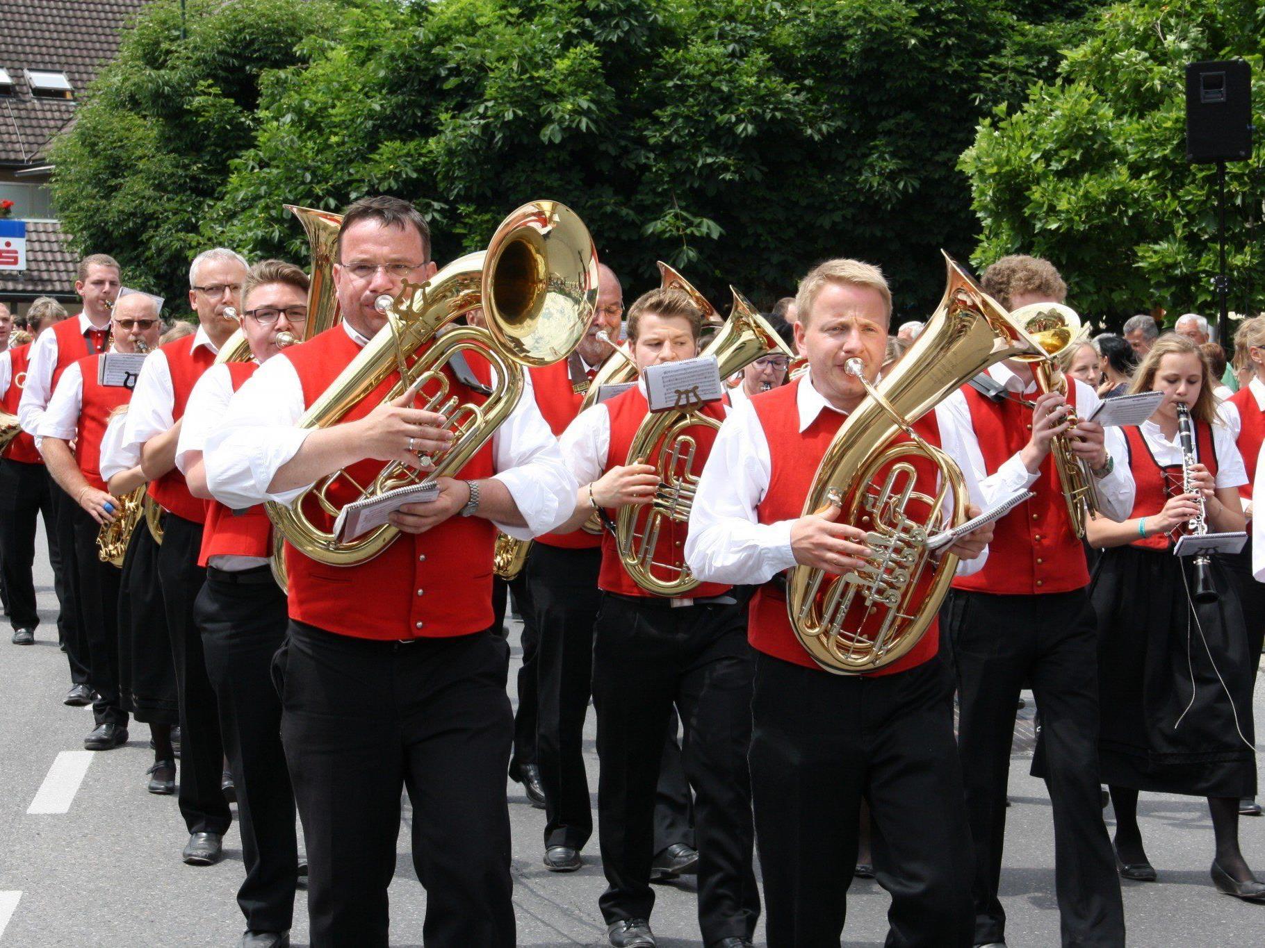 Riesen Bezirksmusikfest in Rankweil, mit drei Tagen mega Stimmung.