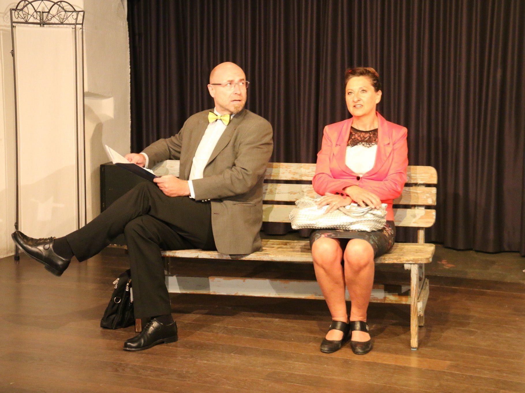 """Verflixter """"Schiller und Schaller"""" mit Florian Moosbrugger und Karin Epple."""