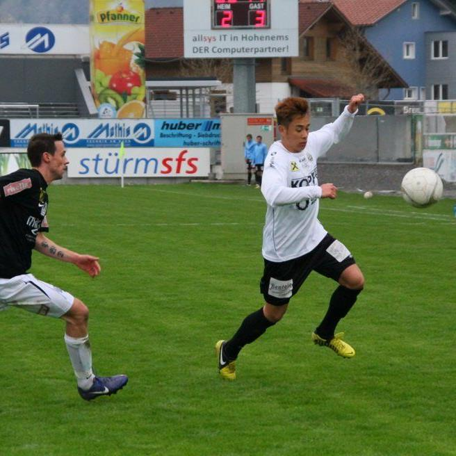 Der Ex-Altacher Eric Zachhuber spielt für die Lustenauer Austria.