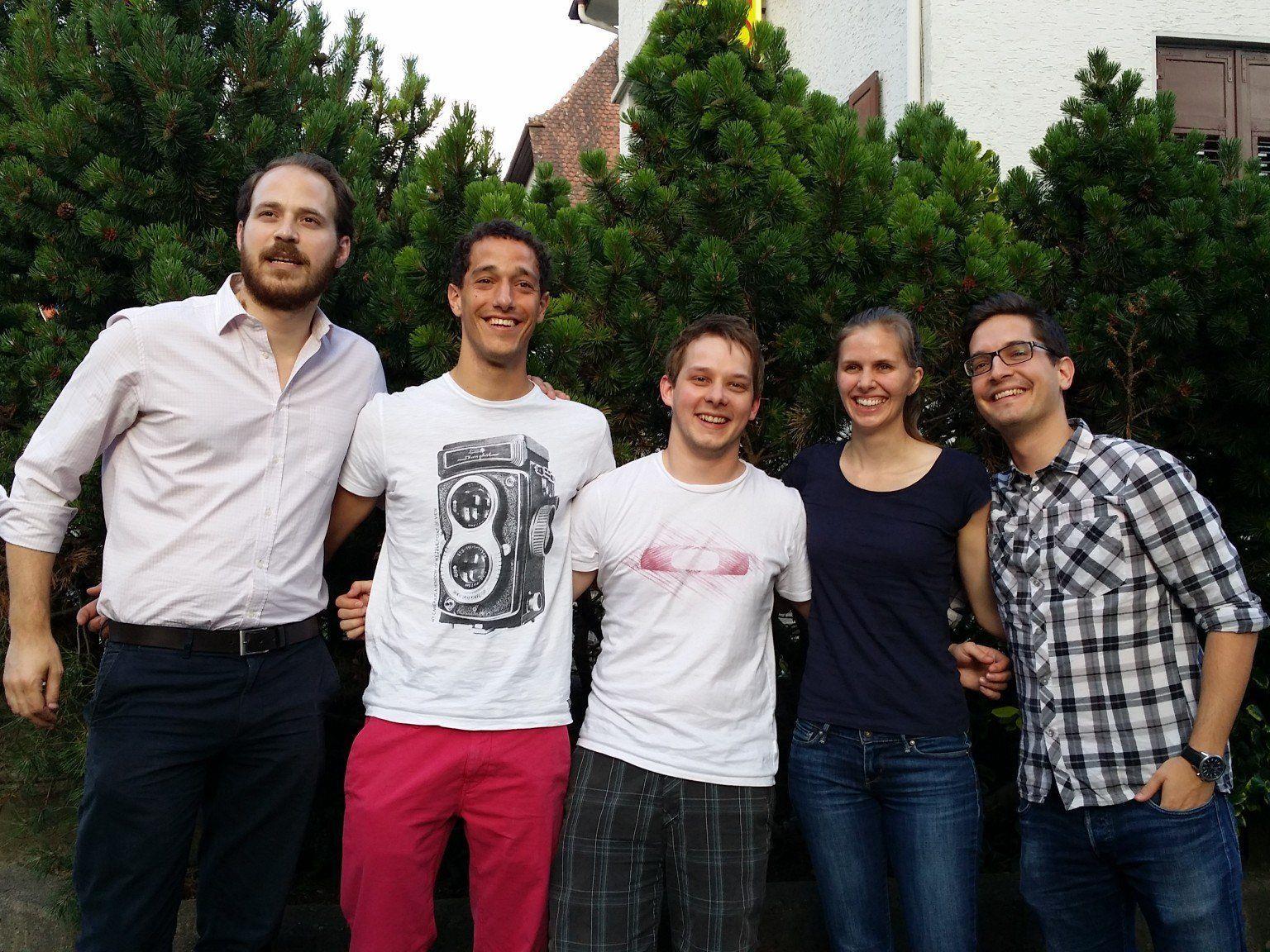 Nikolaus Scherak (Bundesvorsitzender), Kilian Holzer (stv. Landesvorsitzender), Florian Schrei (Landesgeschäftsführer), Agnes Wachter (stv. Landesvorsitzende), Mathias Gehrer (Landesvorsitzender) (v.l.)