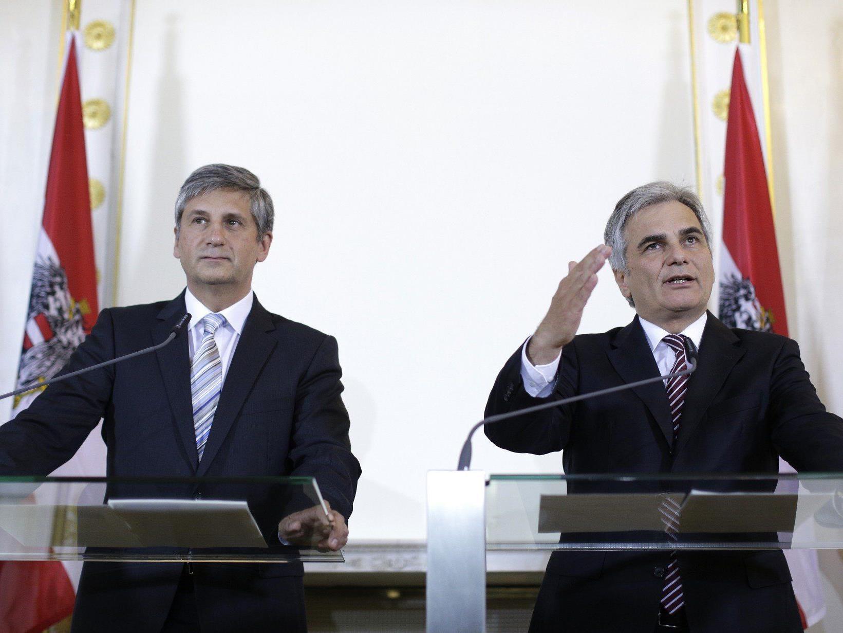 Verhärtete Fronten in der Koalition zum Thema Steuerreform.