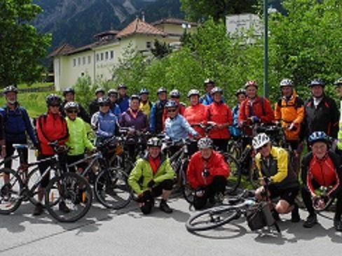 PVÖ-Radfahrgruppe unterwegs von Steeg nach Füssen