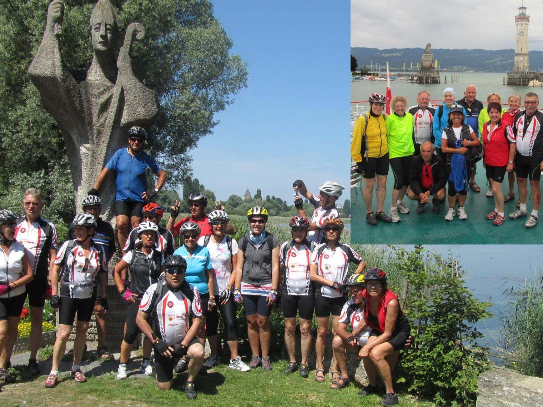 Team per pedales beim Inselhüpfen am Bodensee