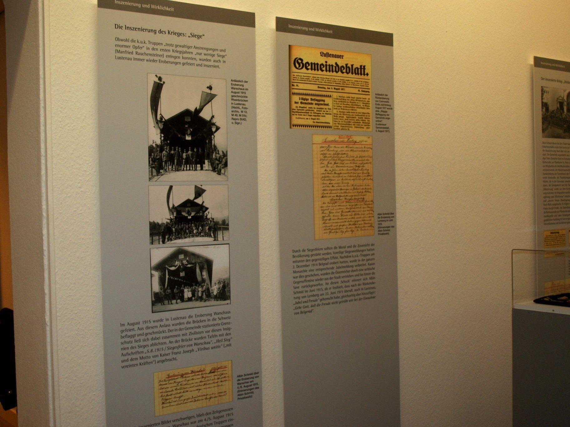 In einer spannenden Ausstellung wird der 1. Weltkrieg dokumentiert.