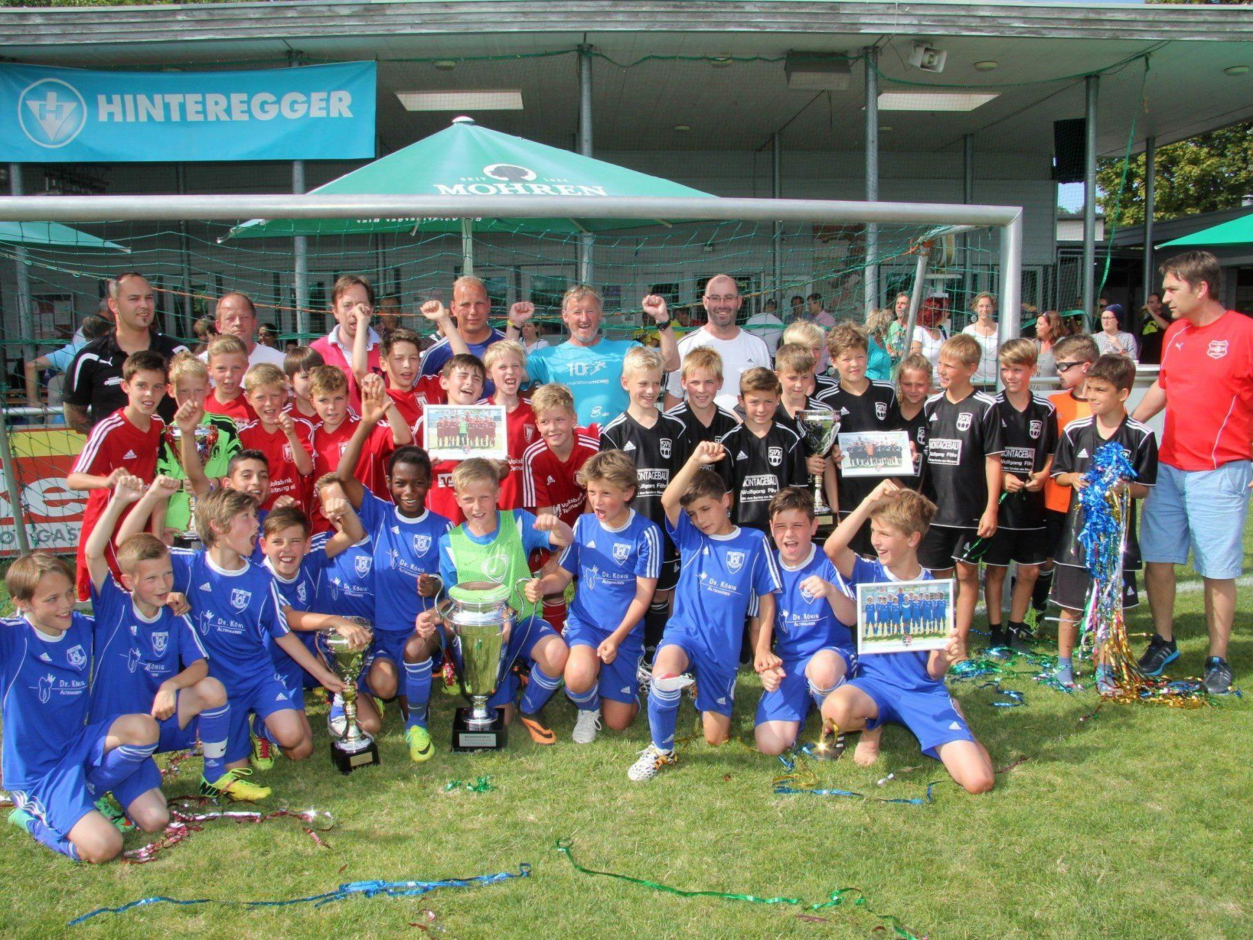 Drei Mannschaften aus Deutschland auf dem Podest beim U-11-Turnier der Viktoria Bregenz