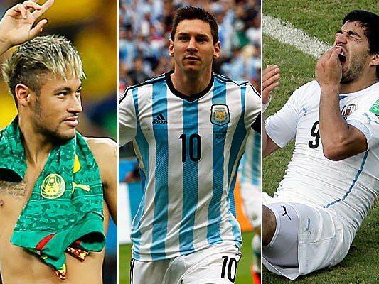 Die großen Stars traten bisher mit recht unterschiedlichen Leistungen bei der WM in Brasilien in Erscheinung.