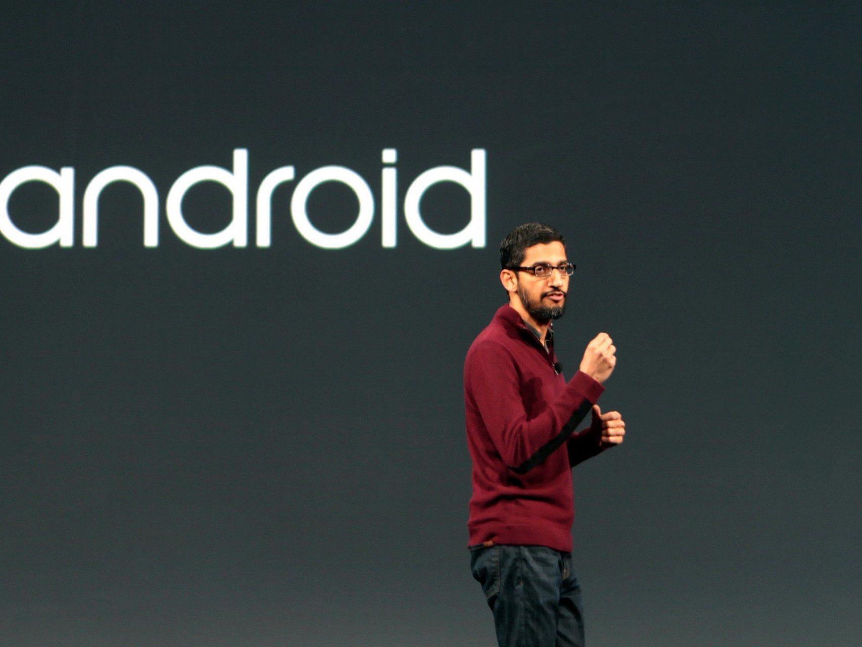 Android- und Chrome-Boss Sundar Pichai führte durch die Keynote zur Google I/O 2014.