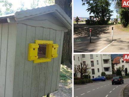 Beim Kinderspielplatz wird das Häuschen vermisst. Zudem haben zwei Bürgerforums-Teilnehmer auf zwei gefährliche Übergänge hingewiesen.