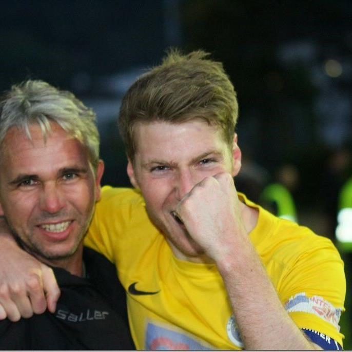 Hohenems-Meistermacher Rainer Spiegel und Torjäger Adrian Klammer hoffen auf den Cupsieg.