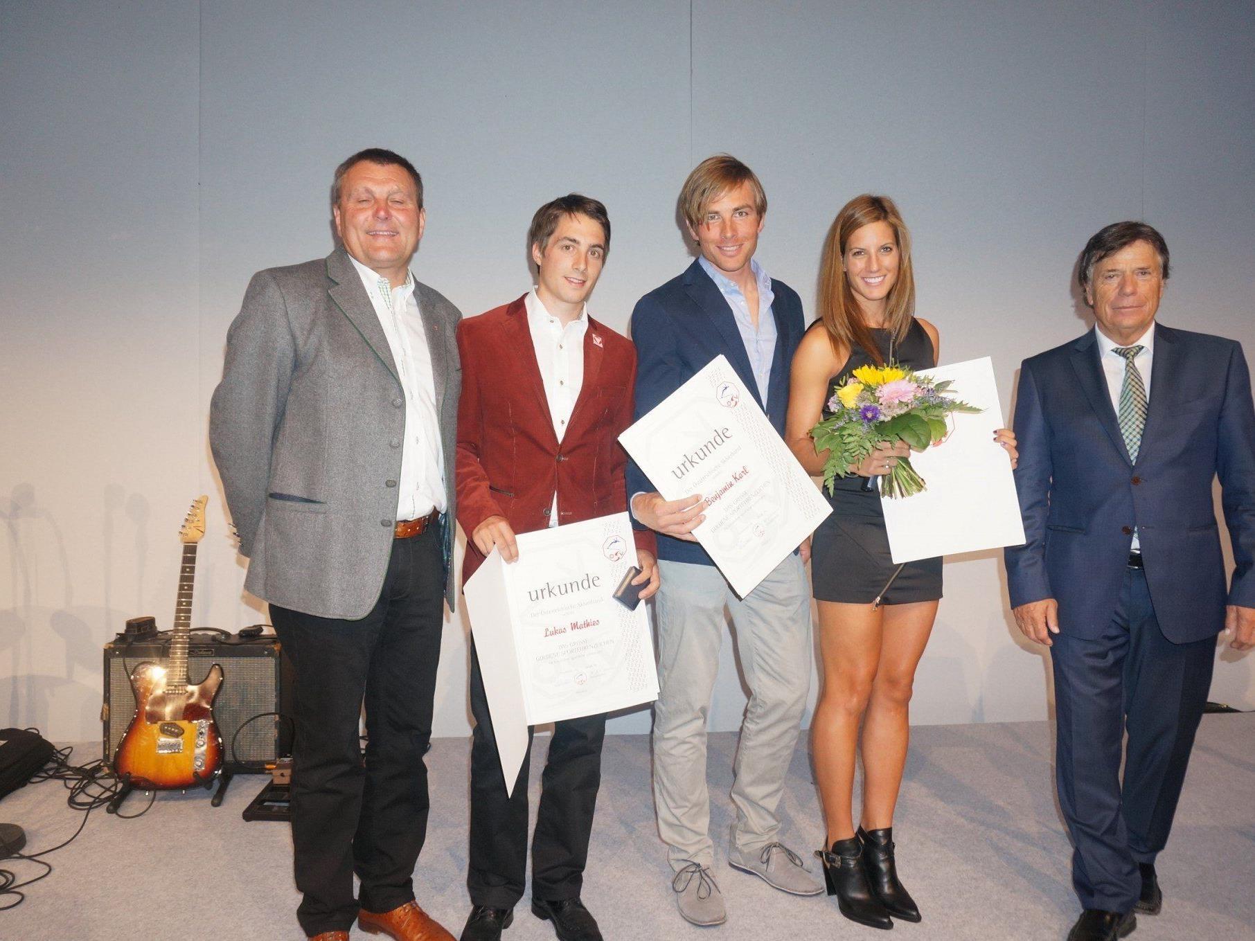 Ehrung für vier Vorarlberger bei der ÖSV Länderkonferenz in Lech.