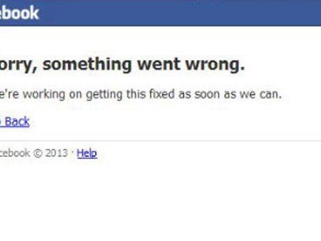 Facebook kämpfte mit globalen Ausfällen.