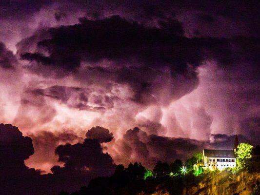 Unwetter hinter dem Gebhardsberg