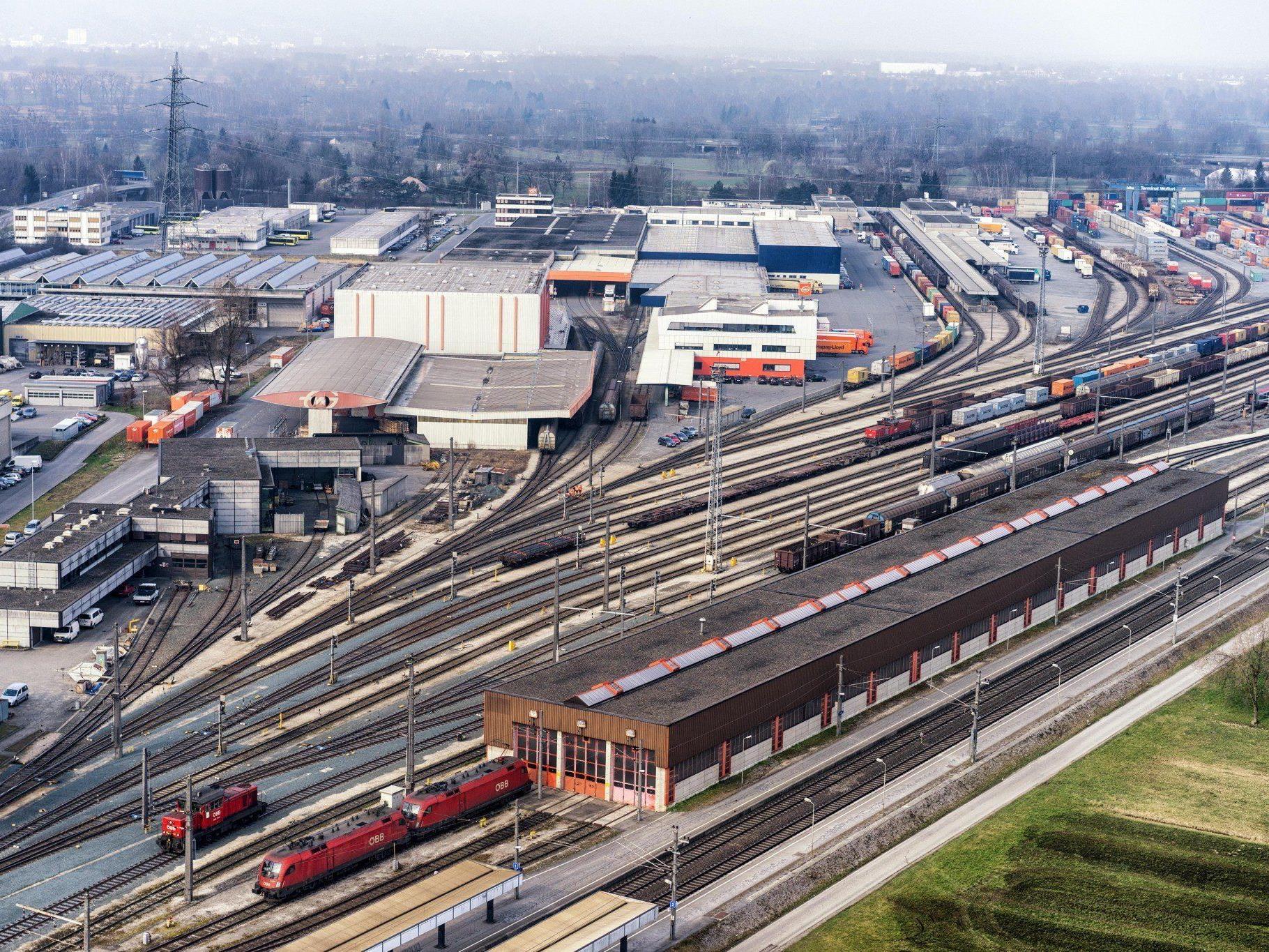 Die Kapazität des Güterbahnhofs wird verdoppelt. Kostenpunkt: 66 Mio. Euro.