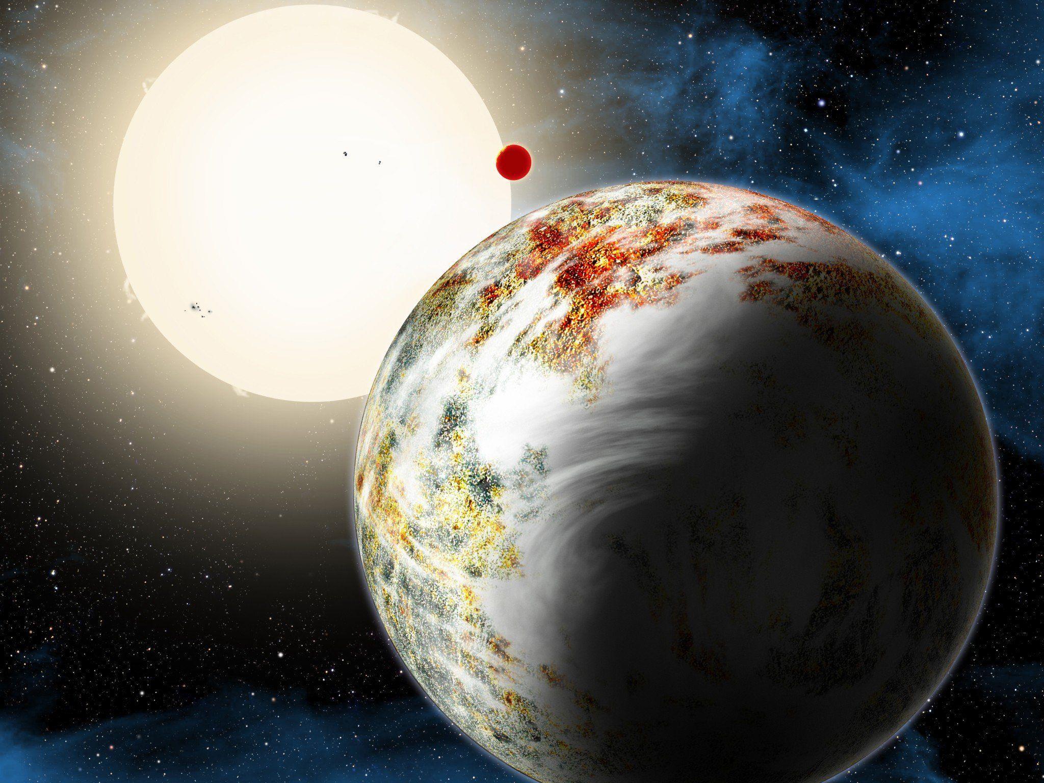 """""""Mega-Erde"""" entdeckt: Exoplanet mit 17 Mal so viel Masse wie die Erde."""