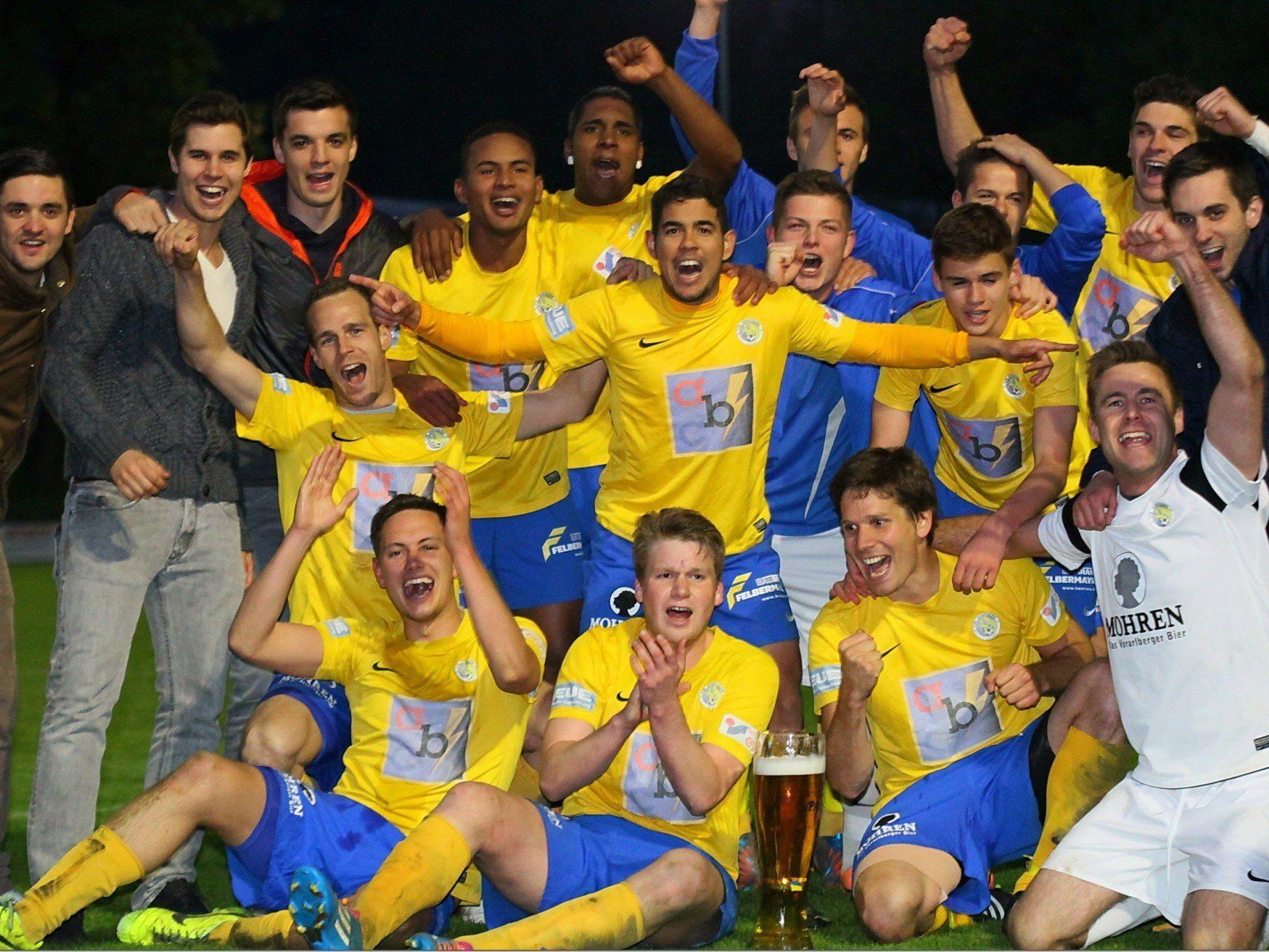 VfB Hohenems ist Meister in der Landesliga und steigt in die Vorarlbergliga auf.