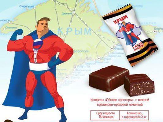 Russische Firma verkauft Schoko-Bonbons mit provokativem Motto.