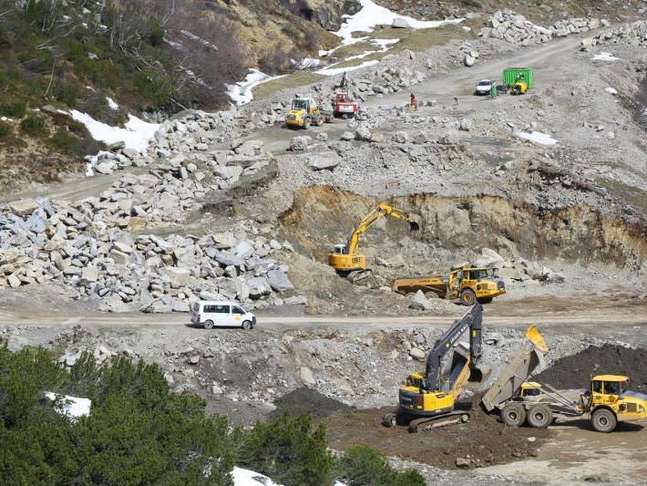 Unfall ereigenete sich auf der Großbaustelle Obervermuntwerk II