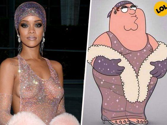 Das ultimative Style-Duell: Rihanna gegen Peter Griffin.